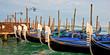 Panorama of gondas in Venice, Italy