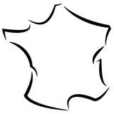 France contour stylisé 01 - 195182091