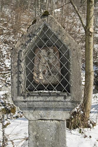Bildstock mit dem hl. Christophorus, an der Strase nach Engelberg, Obwalden, Schweiz