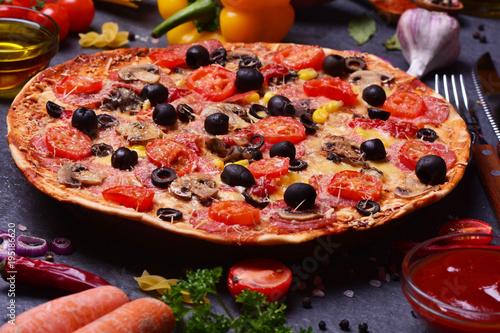 Papiers peints Pizzeria For you, the freshest fragrant pizza