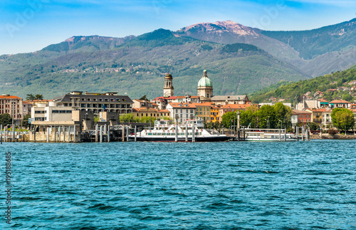 Harbor of Intra Verbania, is a little town on the shore of Lake Maggiore, Italy