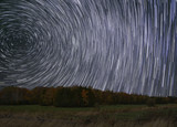 Star Trails in Autumnal Ontario