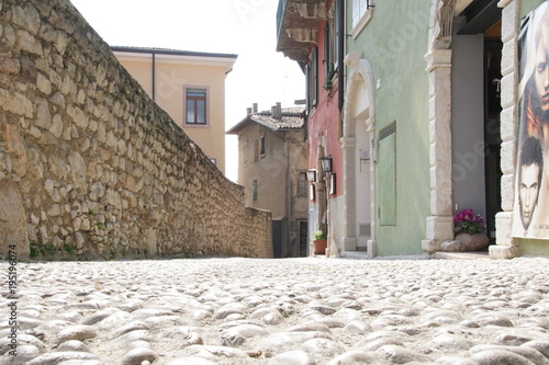Wall Murals Narrow alley NordItalien