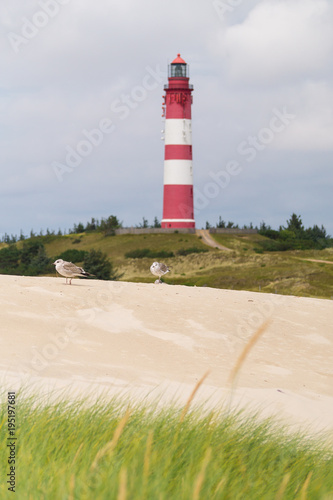 Poster Noordzee NORDSEE Leuchtturm auf Amrum IV