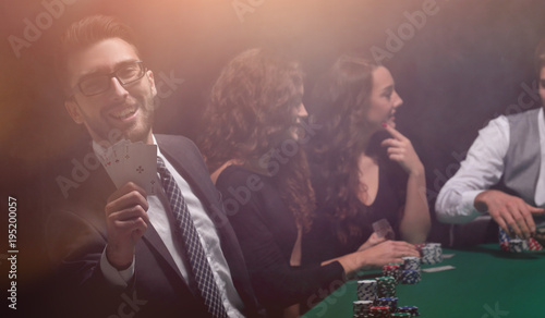 background image. game of poker.