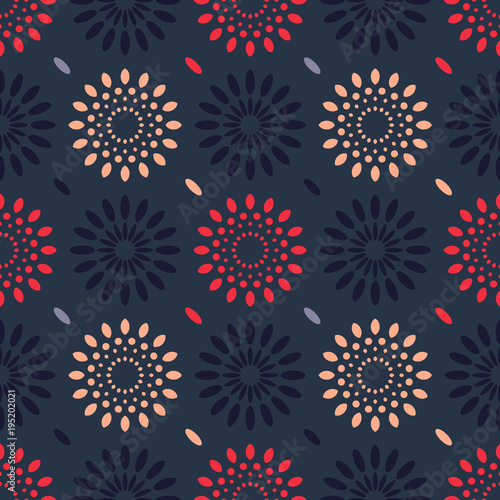 Fototapeta Cosmic rain seamless pattern. Suitable for screen, print and other media.