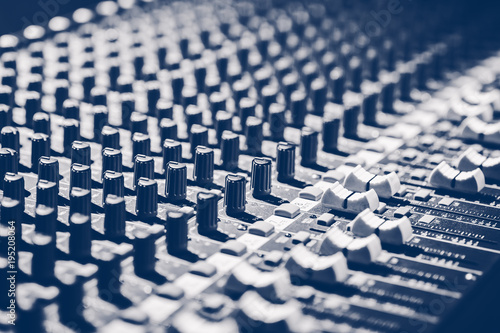 audio mixing console, music background. recording concept