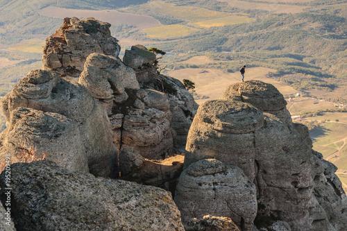 Aluminium Beige Rocky mountain peak