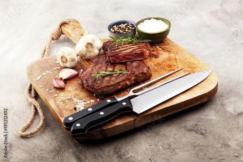 Aluminium Steakhouse Barbecue Rib Eye Steak, dry Aged Wagyu Entrecote Steak