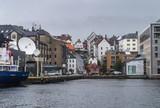 BERGEN, NORWAY - 2017, JULE 27: View of Bergen from the North Sea