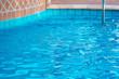 Poolside water, selective focus