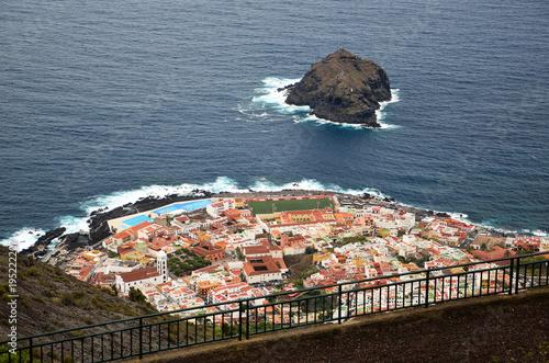 Poster Canarische Eilanden Aerial view of Garachico village in Tenerife