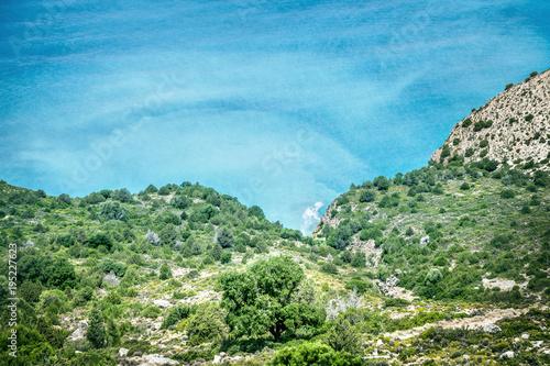 Staande foto Olijf Sea landscape