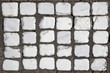 pattern of white cobblestones