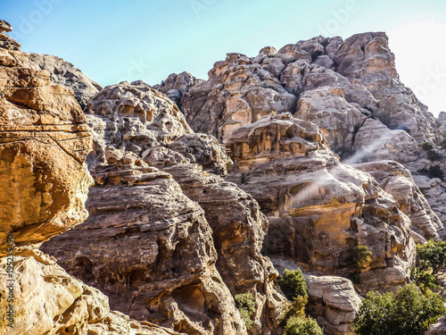 beautiful view of the mountains in Wadi Rum in Jordan Poster