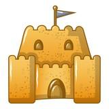 Sand tower icon, cartoon style - 195236201