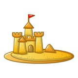 Sand kingdom icon, cartoon style - 195236226