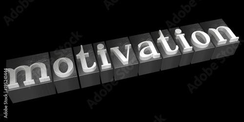 Motivation concept - letterpress