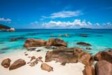 Tropical beach Anse Lazio, Praslin island, Seychelles - 195274665