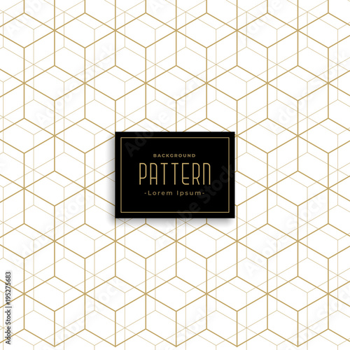 Poster gold geometric cube style pattern background
