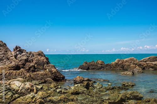 Sea rocks and blue sky