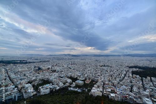 Poster Parijs アテネの夜景とギリシャ正教会