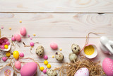 Easter Background with Easter Eggs - 195282855