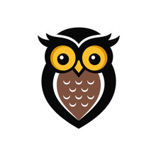 Owl Logo Stock Images Sticker