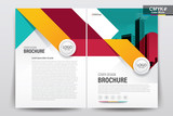 Abstract vector modern flyers brochure / annual report /design templates / stationery with white background in size a4 - 195296073