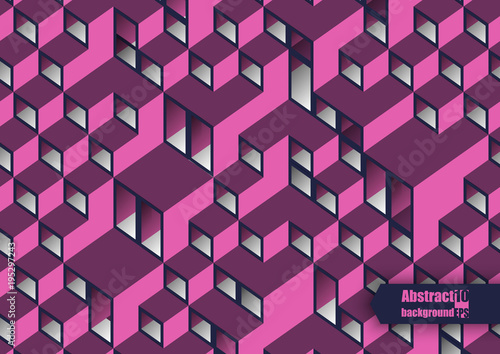 Fotobehang Abstractie Graphic illustration. Abstract background with geometric pattern. Eps10 Vector illustration