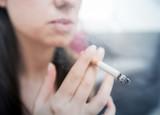 Woman Smoking Cigarette - 195302001