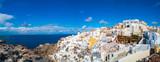 Panorama of Oia Village on Santorini island Greece - 195305228