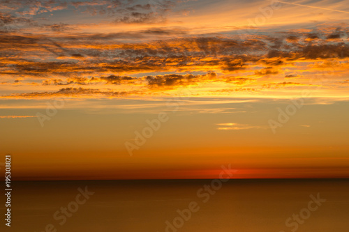 Aluminium Zee zonsondergang Sonnenuntergang