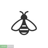 Honey bee vector icon