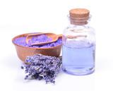 Lavender salt, gel and flowers - 195311493