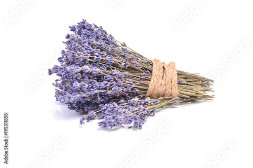 Fotobehang Lavendel Lavender on a white background