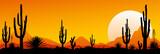 Mexico desert sunset. The stony desert - 195313299