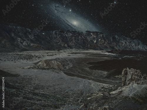 Foto op Canvas Grijze traf. Mountains