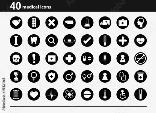 Fotobehang Abstractie medical icons set on white background
