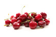 cherry fruit on white background