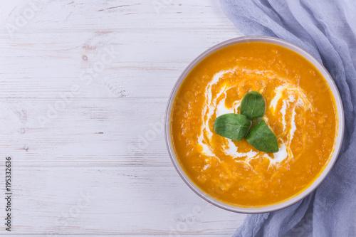 Pumpkin porridge with rice and milk