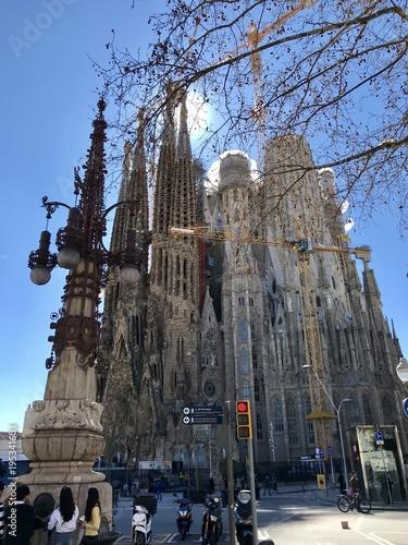 Foto op Canvas Barcelona Antoni Gaudí