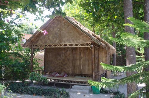 Fotobehang Bamboe Wooden bamboo house, resort at Lipe island,Thailand