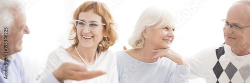 Senior people having fun
