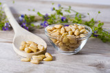 Group of pine nuts in cooking environment - 195353450