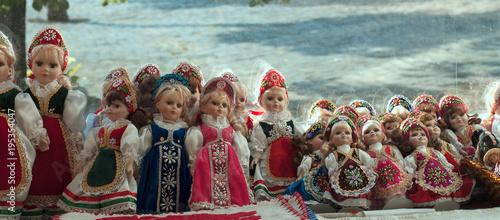 Foto op Canvas Boedapest Bambole con costume tipico, Budapest
