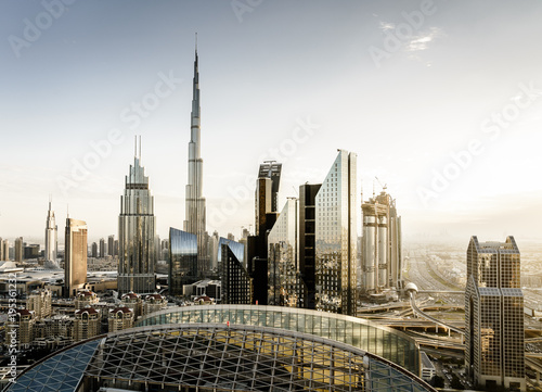 Foto op Canvas Dubai Dubai downtown skyline