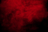 Abstract red smoke on black  background. Red color clouds.