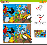Find Differences  Birds Animal Characters Wall Sticker
