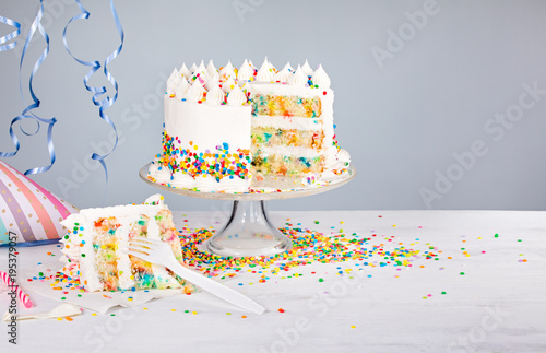 Foto Murales Birthday Cake with Sprinkles